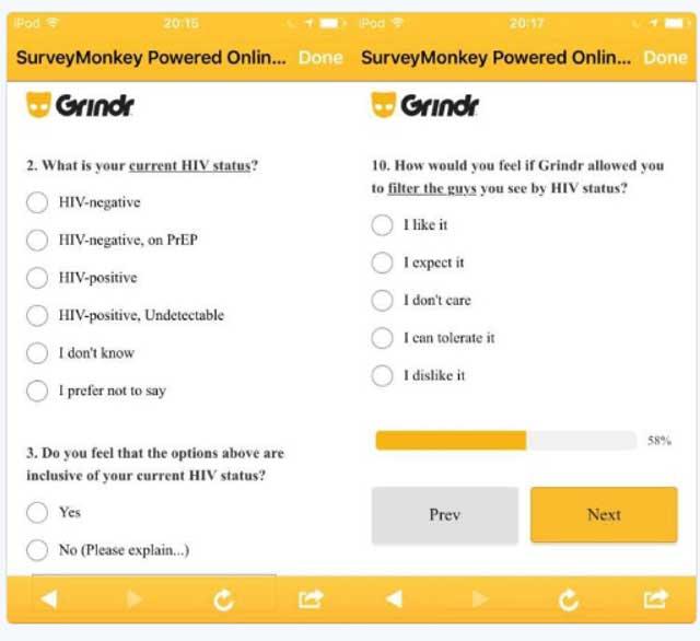 A Grindr survey.