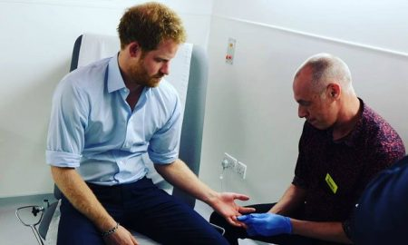 This is a photo of Prince Harry getting an HIV test.