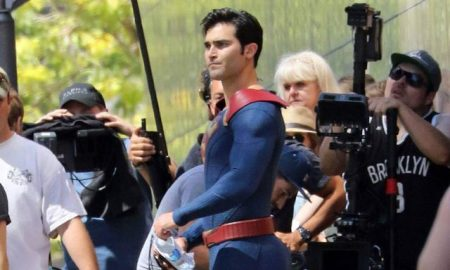 This is a photo of Tyler Hoechlin as Superman.