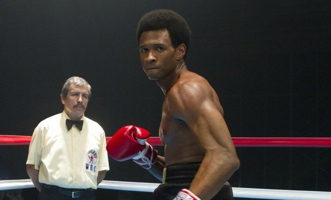 Usher boxing in the film 'Hands of Stone'