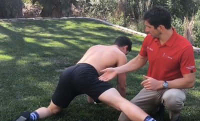 Chiropractor Helps Hot Guys Stretch