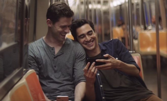 iPhone 7 commercial featuring gay couple
