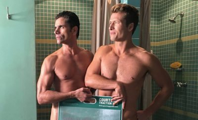 John Stamos and Glen Powell Shower Together on 'Scream Queens'