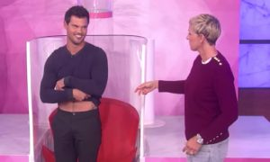 Taylor Lautner Flashes His Famous Abs on Ellen