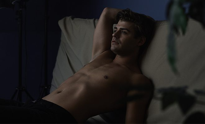 Garrett Clayton as Brent Corrigan in 'King Cobra'