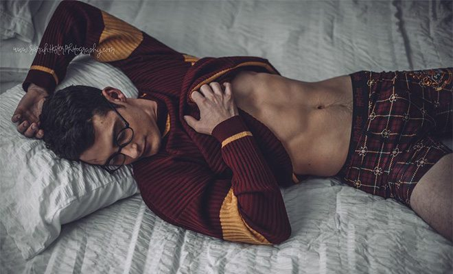 Harry Potter boudoir photoshoot by Sarah Hester