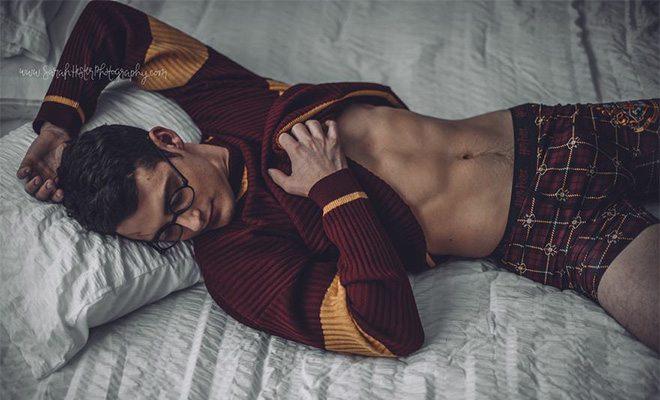 Harry Potter boudoir photoshoot by Sarah Hester