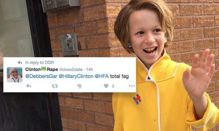 8-Year-Old Boy Dressed as Hillary Clinton