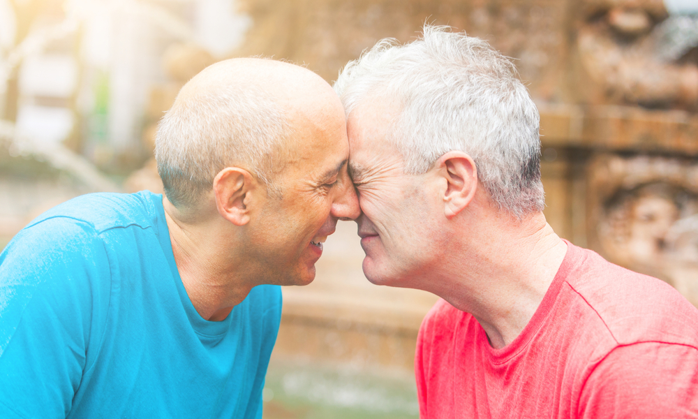 This is a photo of a senior gay couple