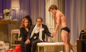 Garrett Clayton in the play 'God Looked Away'