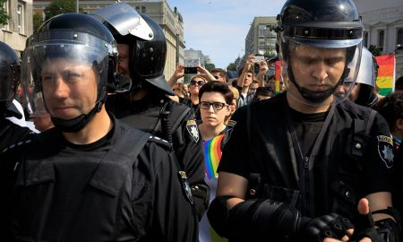 Pride Parade In Kiev. Ukrainian