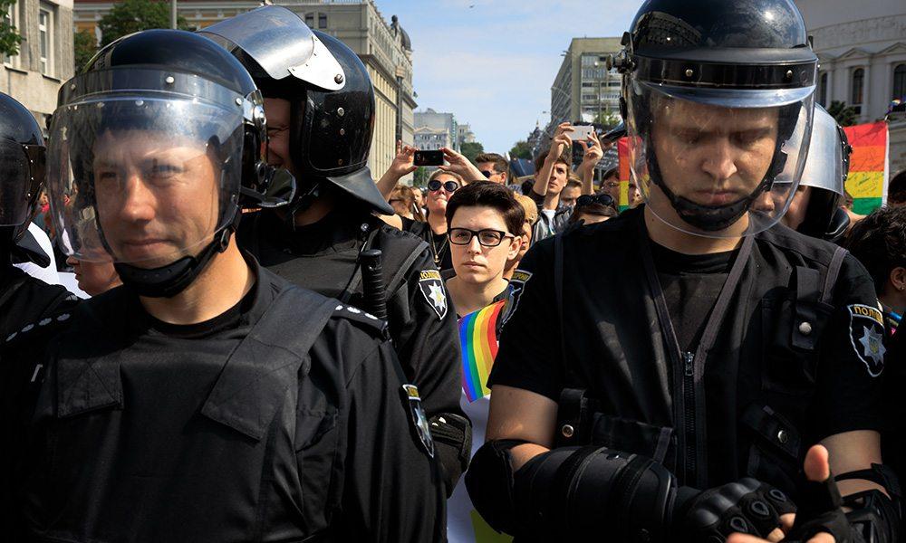 Pride Parade In Kiev. Ukrainian