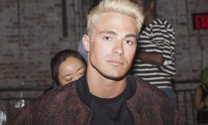 Colton Haynes attends runway for PUBLIC SCHOOL