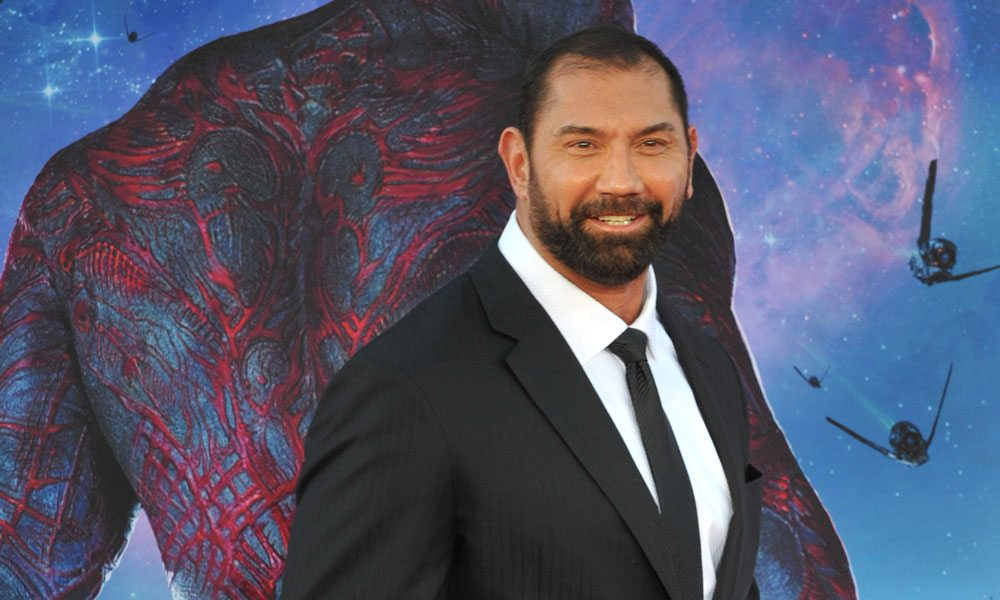 Dave Bautista at the premiere of 'Guardians of the Galaxy'