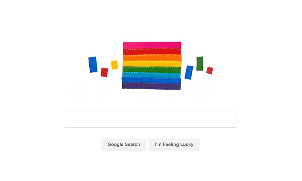 Google Celebrates Pride With Rainbow Flag Doodle