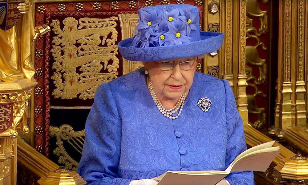 State Opening of Parliament, The Queen's speech