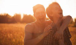 Teenage gay couple