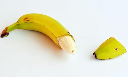 A cut banana