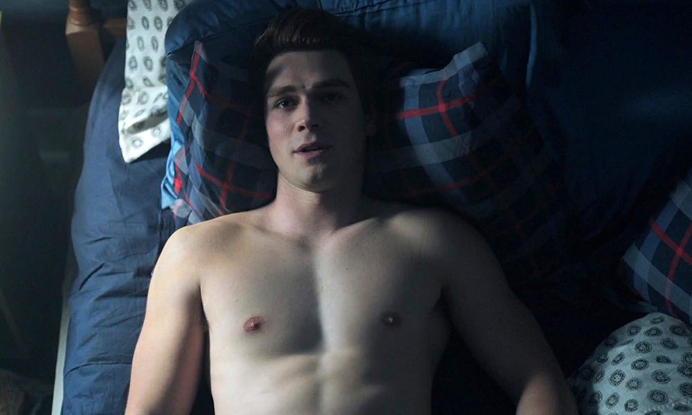 KJ Apa Shirtless on Riverdale
