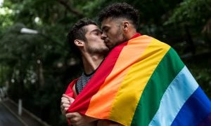 Gay Brazilian Couple Kissing