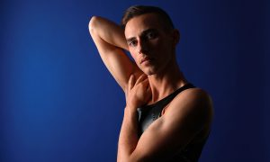 Figure skater Adam Rippon poses for a portrait during the Team USA Media Summit