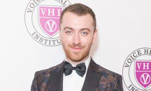 Sam Smith attends the Raise Your Voice concert