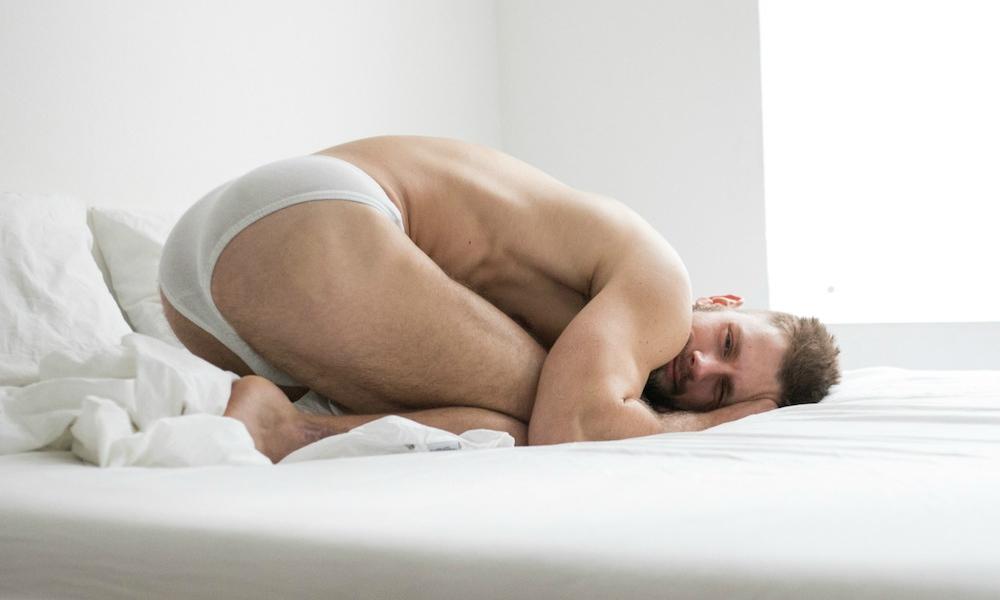 Branden Hayward in his underwear