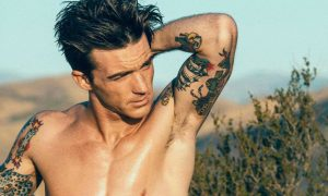 Drake Bell shirtless