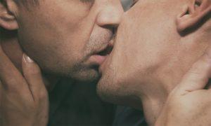 Gay Couple Kissing