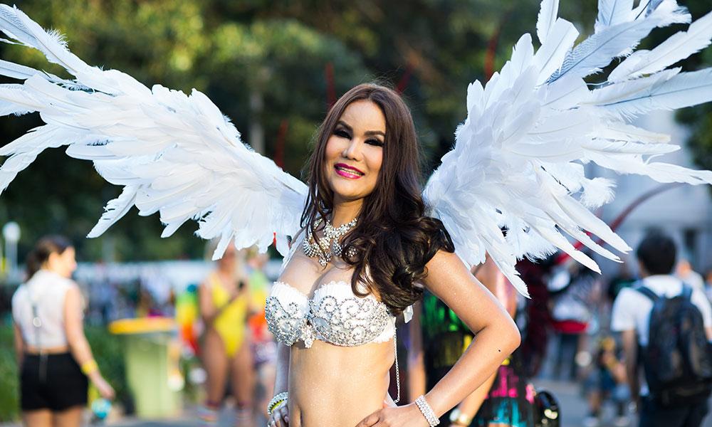 Beautiful Trans Woman at the Sydney Gay & Lesbian Mardi Gras Parade