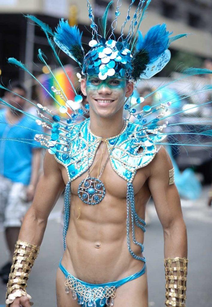 Hot guy at the NYC Gay Pride Parade