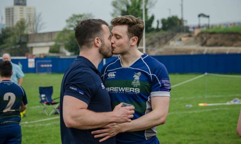 Rugby Play Simon Dunn Kisses Boyfriend