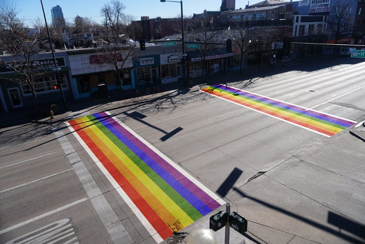 Denver rainbow crosswalks
