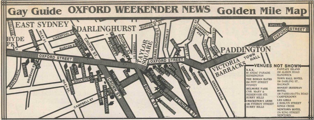 A guide to the 'Golden Mile' published in the Oxford Weekender News