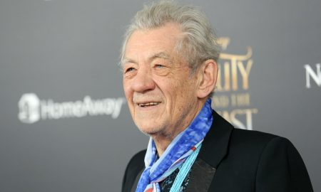 Sir Ian McKellen attends the premiere of 'Beauty and the Beast'
