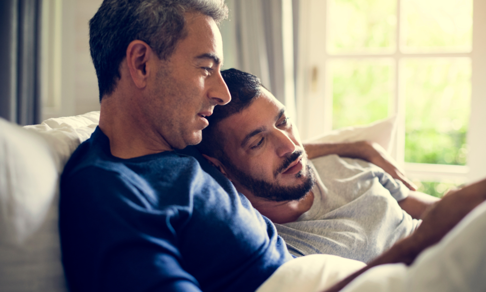 Older gay couple