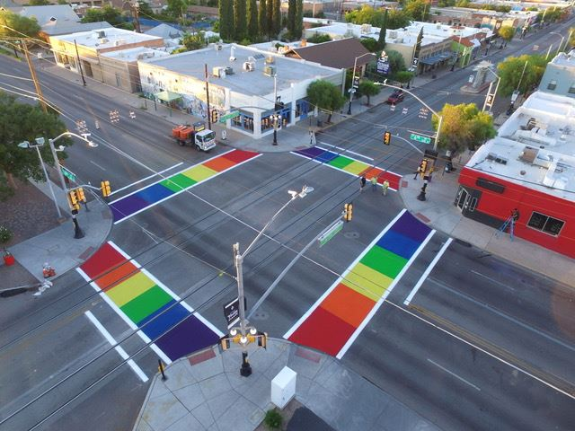 Phoenix rainbow crosswalks
