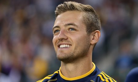 Robbie Rogers #14 of Los Angeles Galaxy