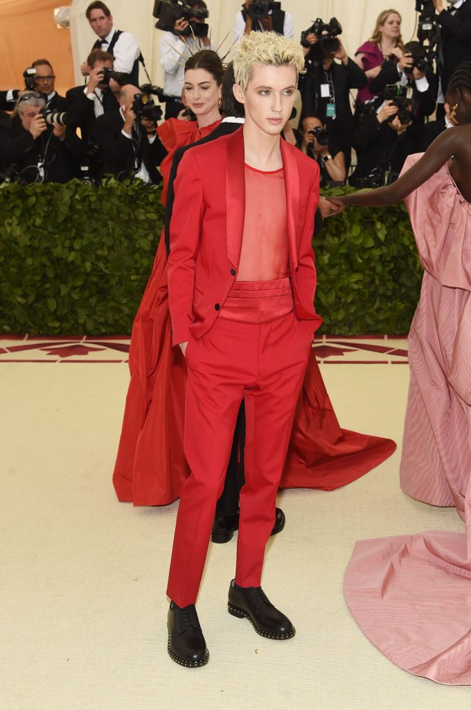 Troye Sivan attends the Heavenly Bodies: Fashion & The Catholic Imagination Costume Institute Gala