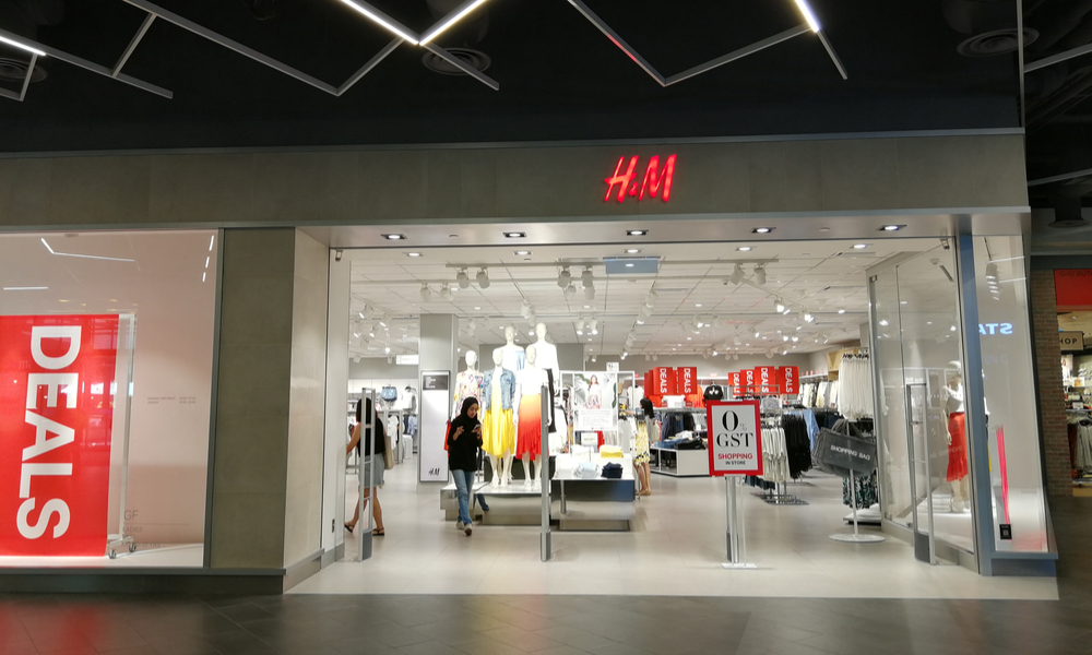 This is a photo of the front of H&M