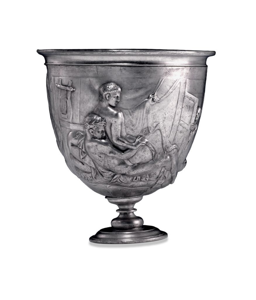 A first-century silver chalice showing men having sex