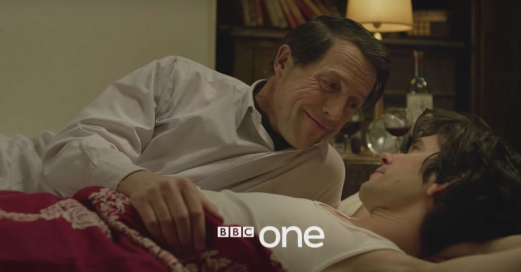 Hugh Grand and Ben Whishaw in 'A Very British Scandal'