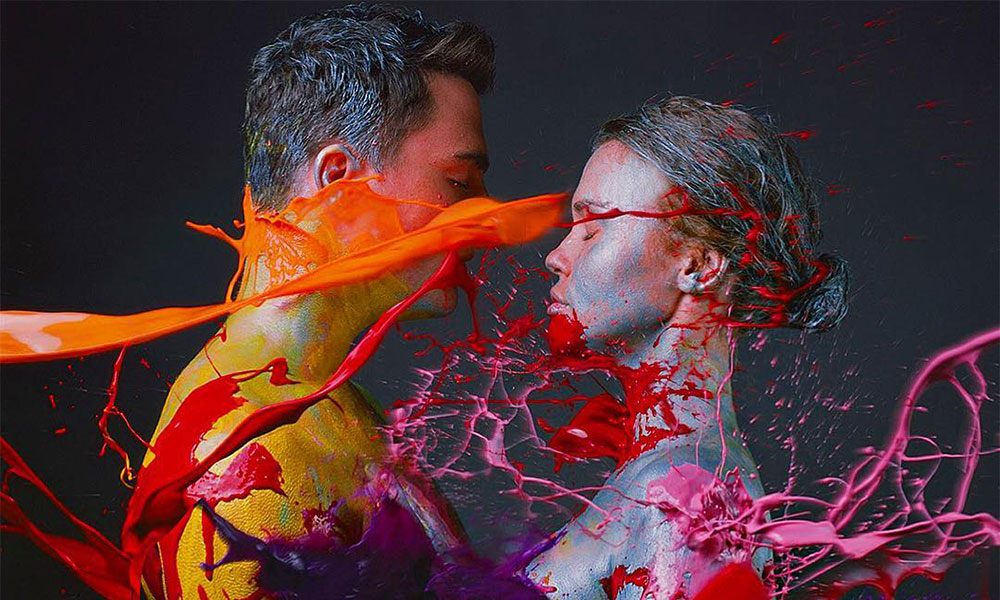 Colton Haynes took it all off for a body-paint photoshoot.