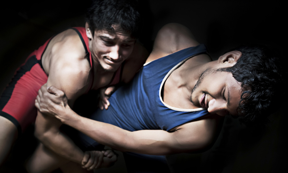 Real College Guys Wrestling