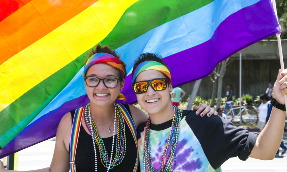 Pride Marchers in Santa Monica