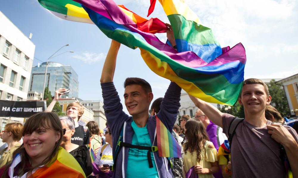 Pride Parade Marchers