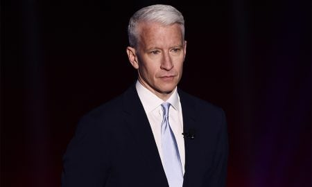 Journalist Anderson Cooper appears on stage during the Turner Upfront 2016 show