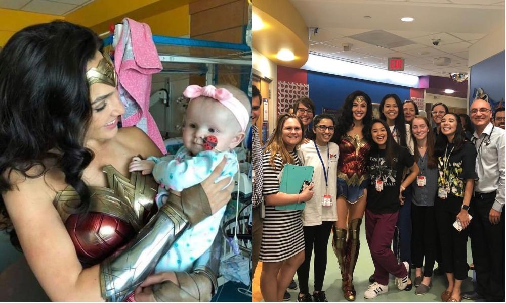 Gal Gadot Visits Children's Hospital as Wonder Woman