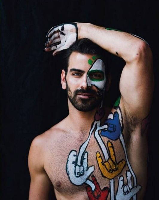 Nyle DiMarco on the cover of Gay Times cover