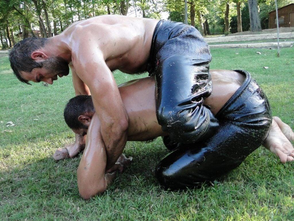 Oil wrestling is the hottest sport in Turkey.